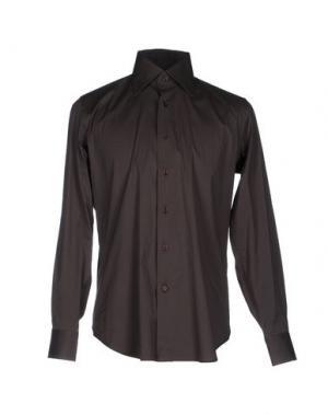 Pубашка LEXINGTON. Цвет: темно-коричневый