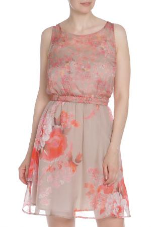 Двойное платье с поясом Liu Jo. Цвет: цветной