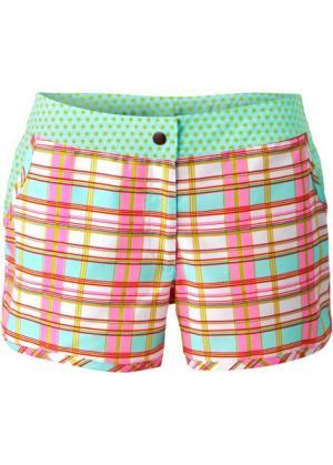 Пляжные шорты (розовый/нежно-голубой) bonprix. Цвет: розовый/нежно-голубой