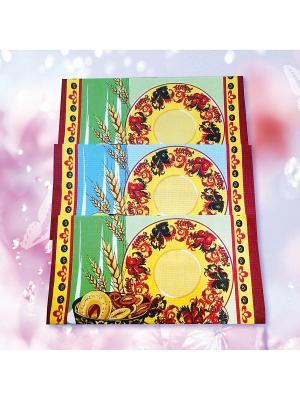 Комплект полотенец ZLATA KORUNKA. Цвет: красный