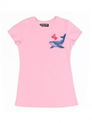 Футболка Eniland. Цвет: розовый