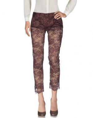 Повседневные брюки X'S MILANO. Цвет: баклажанный