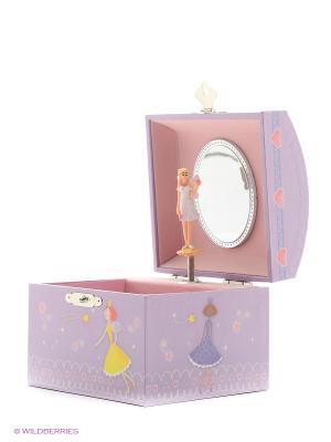 Музыкальная шкатулка с фигуркой в форме купола Jakos. Цвет: фиолетовый, розовый, белый, голубой