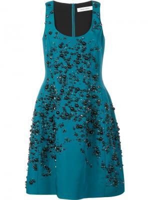Платье с вышивкой Prabal Gurung. Цвет: зелёный