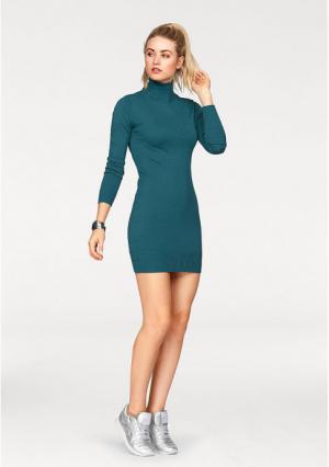Платье AJC. Цвет: зелено-синий, серый меланжевый, цвет баклажана, черный