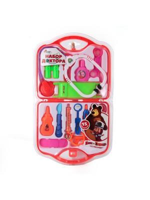 Набор доктор Играем вместе Маша и медведь.. Цвет: зеленый, оранжевый, розовый