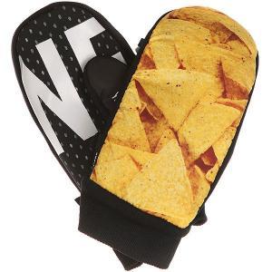 Варежки сноубордические  Character Mitt Chips N Salsa Neff. Цвет: черный,мультиколор