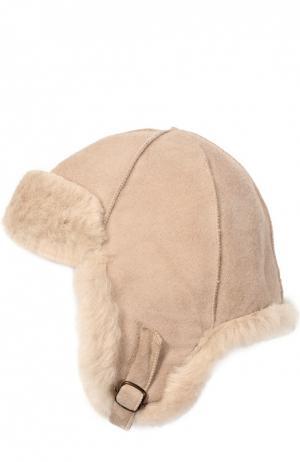 Шапка из овчины Petit Nord. Цвет: светло-розовый