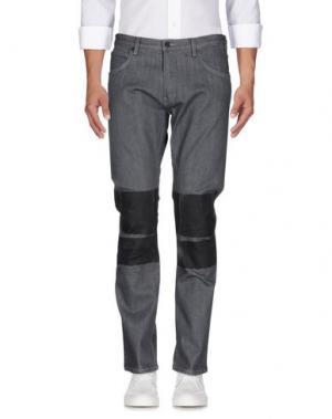 Джинсовые брюки HELMUT LANG. Цвет: серый