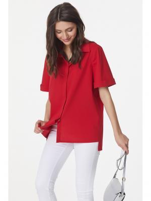 Блузка Fly. Цвет: красный