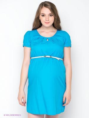 Платье Gemko. Цвет: голубой