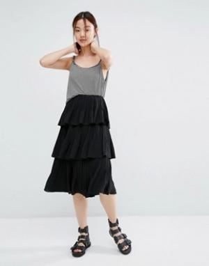 Zacro Шифоновая юбка. Цвет: черный
