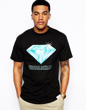 Футболка с принтом  Creators Diamond Supply. Цвет: черный