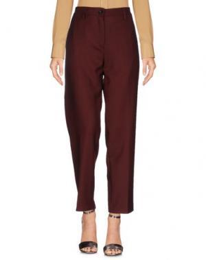 Повседневные брюки DEPARTMENT 5. Цвет: красно-коричневый