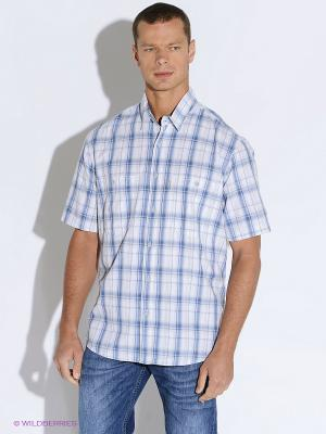 Рубашка Westrenger. Цвет: голубой, синий