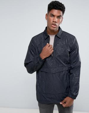 Adidas Originals Спортивная куртка с короткой молнией CF5317. Цвет: черный