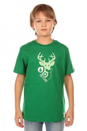 Футболка детская  Dear Dark Green Picture Organic. Цвет: зеленый