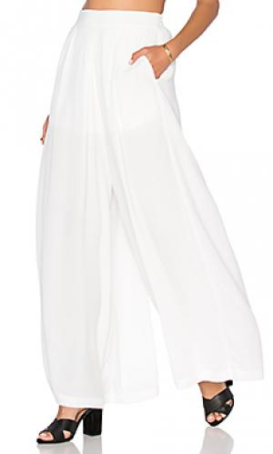 Свободные брюки BLQ BASIQ. Цвет: белый
