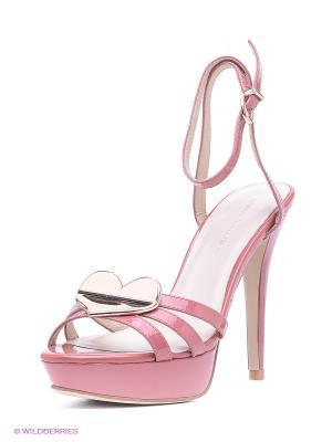 Босоножки Laura Valorosa. Цвет: розовый