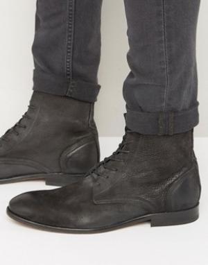 Hudson London Нубуковые ботинки на шнуровке Swathmore. Цвет: черный