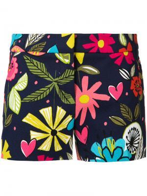 Multicolour floral shorts Trina Turk. Цвет: синий