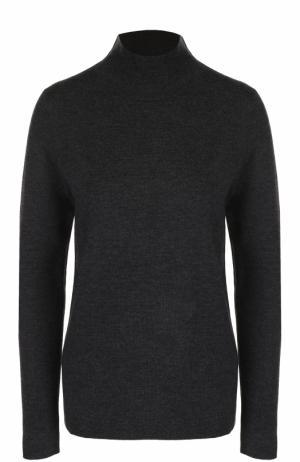 Однотонный шерстяной свитер с высоким воротником Allude. Цвет: темно-серый
