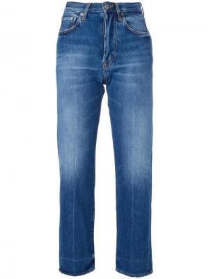 Укороченные джинсы  бойфренда +People. Цвет: синий