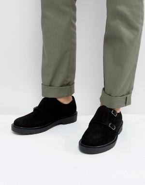 Dead Vintage Черные замшевые монки. Цвет: черный