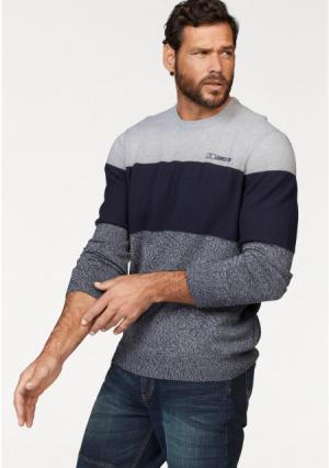 Пуловер MANS WORLD MAN'S. Цвет: темно-синий/серый/серо-синий