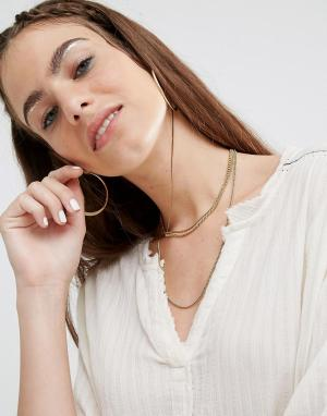 Made Многорядное ожерелье-чокер из цепочек. Цвет: золотой