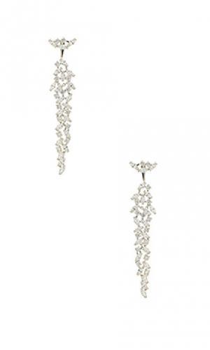 Серьги crystal Amber Sceats. Цвет: металлический серебряный