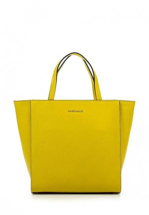 Сумка Coccinelle. Цвет: желтый