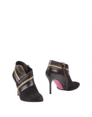 Ботинки LUCIANO PADOVAN. Цвет: темно-коричневый