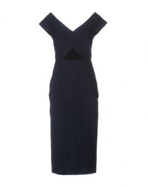 Платье до колена ROLAND MOURET. Цвет: темно-синий