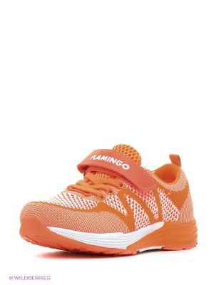 Кроссовки Flamingo. Цвет: оранжевый