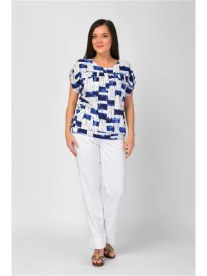 Блузка Maria Velada. Цвет: синий, белый