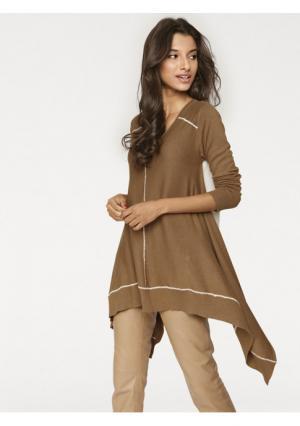 Пуловер PATRIZIA DINI. Цвет: серый/темно-синий