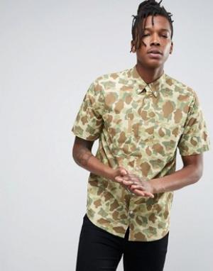 Carhartt Камуфляжная рубашка с короткими рукавами WIP. Цвет: мульти