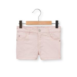 Шорты с 5 карманами, 3-12 лет La Redoute Collections. Цвет: зеленый хаки,красный,розовый