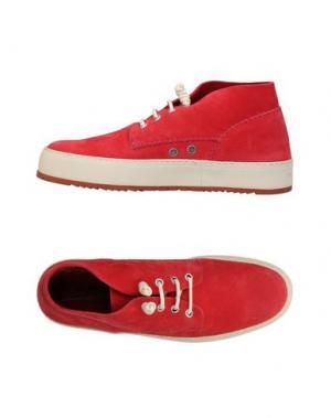 Высокие кеды и кроссовки BARLEYCORN. Цвет: красный