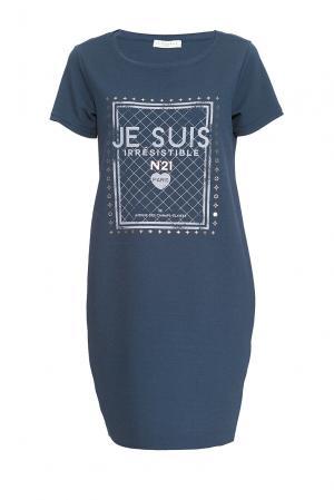 Je Talene Платье из искусственного шелка 167827 T'alene. Цвет: синий