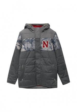 Куртка утепленная ALPEX. Цвет: серый
