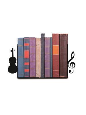 Декоративная подставка-ограничитель для книг Музыка Magic Home. Цвет: черный