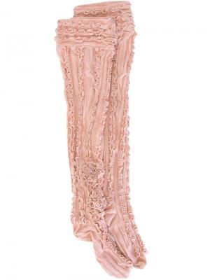 Гольфы с оборками Ryan Lo. Цвет: розовый и фиолетовый