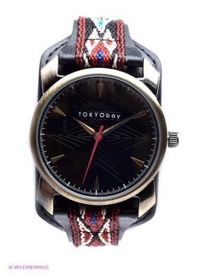 Часы Tokyobay Anatoli Black. Цвет: черный, красный