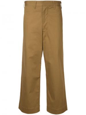 Строгие брюки с завышенной талией Bassike. Цвет: коричневый