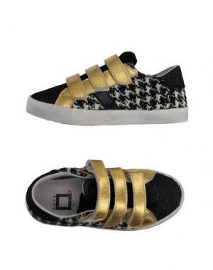 Низкие кеды и кроссовки D.A.T.E. KIDS. Цвет: черный