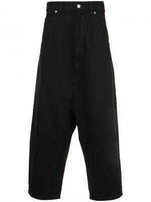 Укороченные джинсы с заниженным шаговым швом Kidill. Цвет: чёрный