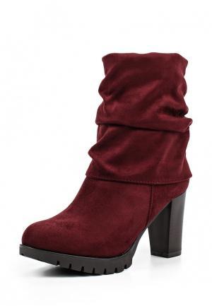 Полусапоги Sweet Shoes. Цвет: бордовый