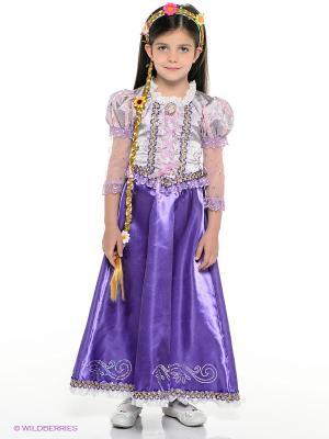 Карнавальный костюм Принцесса Рапунцель Батик. Цвет: фиолетовый